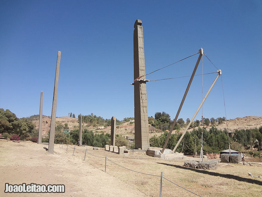 1700-year-old Northern Stelae Park in Axum, Ethiopia