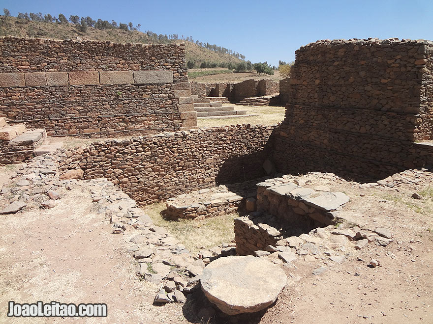 Dungur, the Ruins of Queen of Sheba's Palace in Axum, Ethiopia