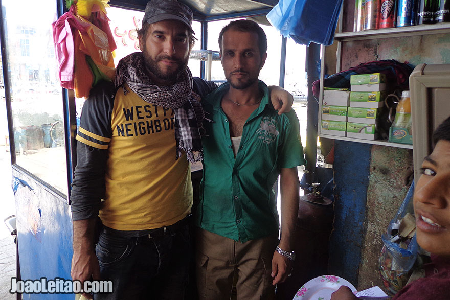 Thats me with a friendly Afghan man