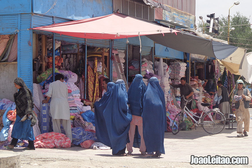 Women wearing Burqa in Mazar-i-Sharif Central Market