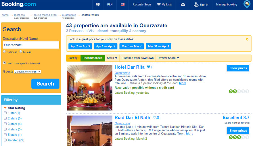 Booking a room online – Hotel and Hostels