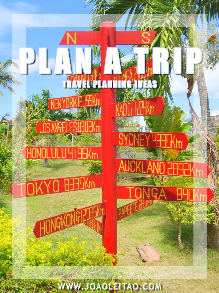 如何计划旅行 - 旅行计划理念