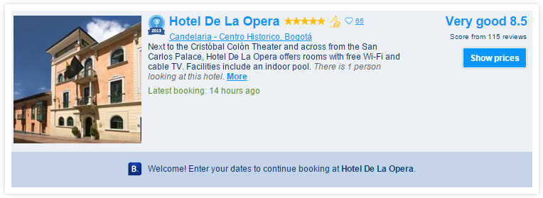 Hotel de la Opera in Bogota - Booking.com