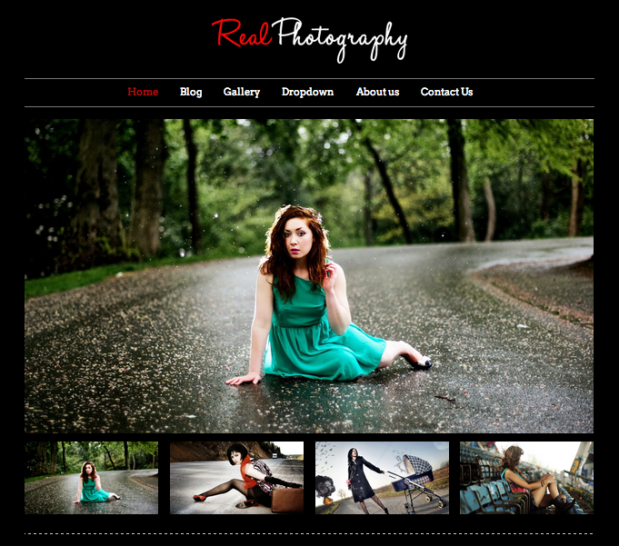 Real Photography Theme for WordPress – site