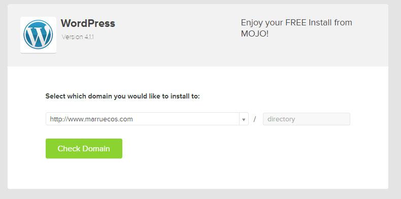 WordPress easy setup