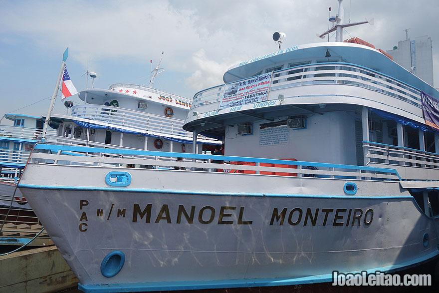 Boat Manoel Monteiro - Manaus to Benjamin Constant