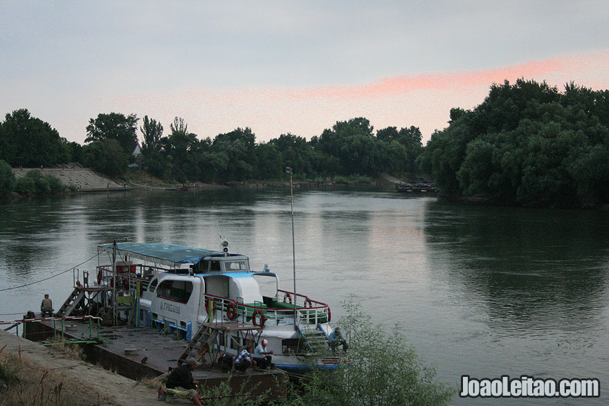 Boat on the Dniester River in Tiraspol