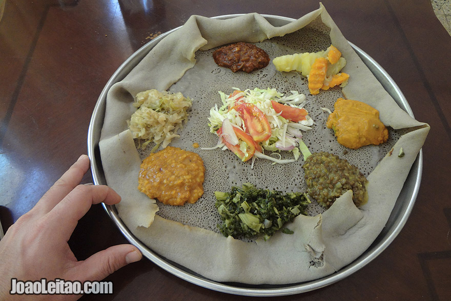 Injera - the national dish of Ethiopia