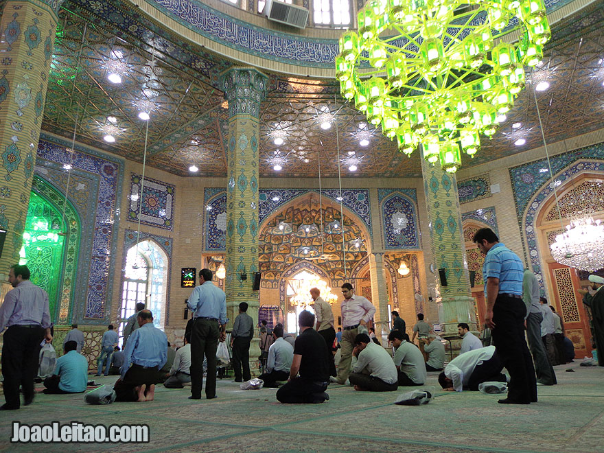Inside Jamkaran Mosque in Qom, Iran
