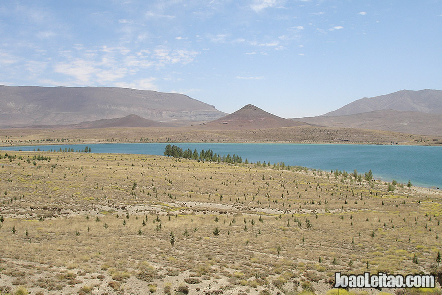 Lake Tislit near Imilchil in Morocco