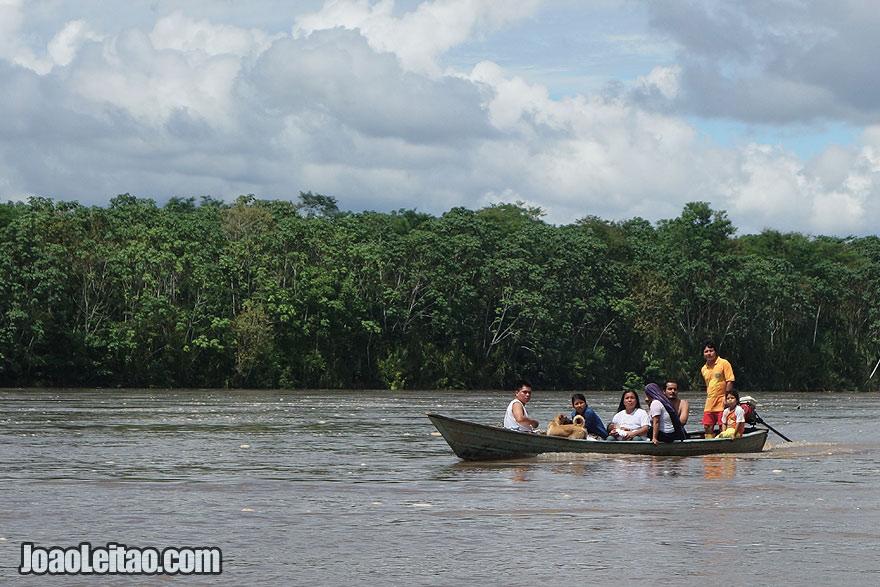 Napo River in Ecuador on the way to El Coca