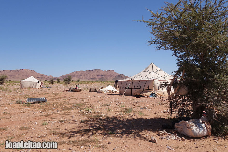 Sahara Desert Nomad Tents with Solar Panel