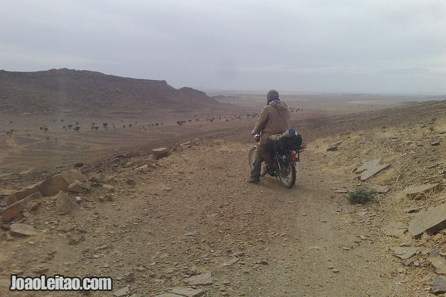Ride a Motorcycle in Sahara Desert