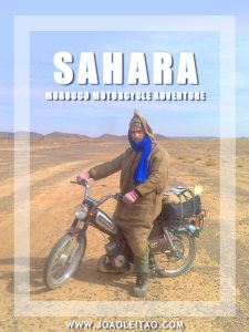 Moped in Sahara Desert - Moroccan Motorcycle Adventure
