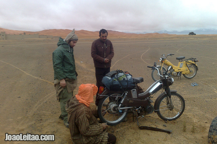 Sahara Desert with Motorcycle