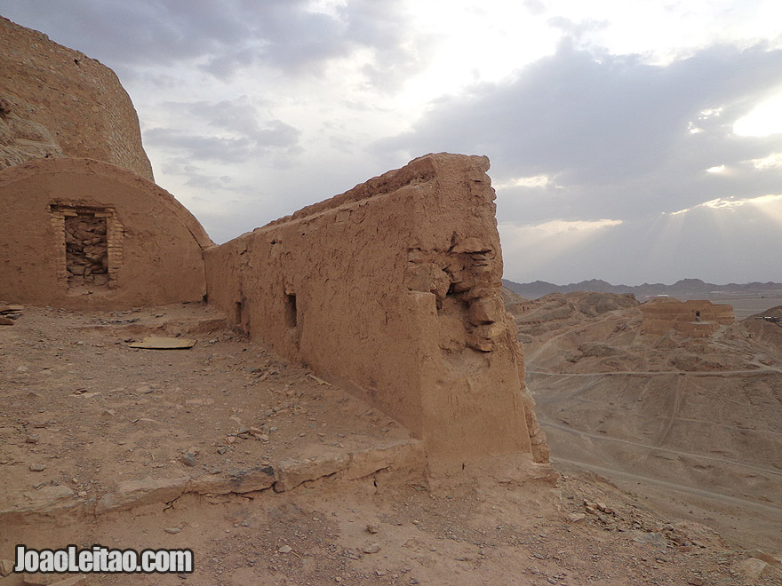 The Towers of Silence in Yazd, Iran