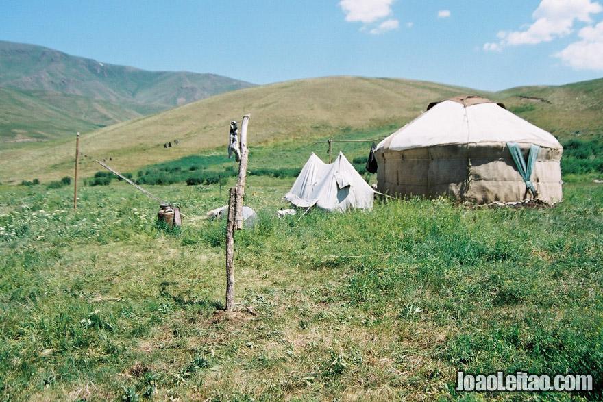Yurt nomad tent in Kazakhstan