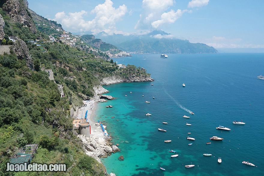 Magnifica Costa de Amalfi em Itália
