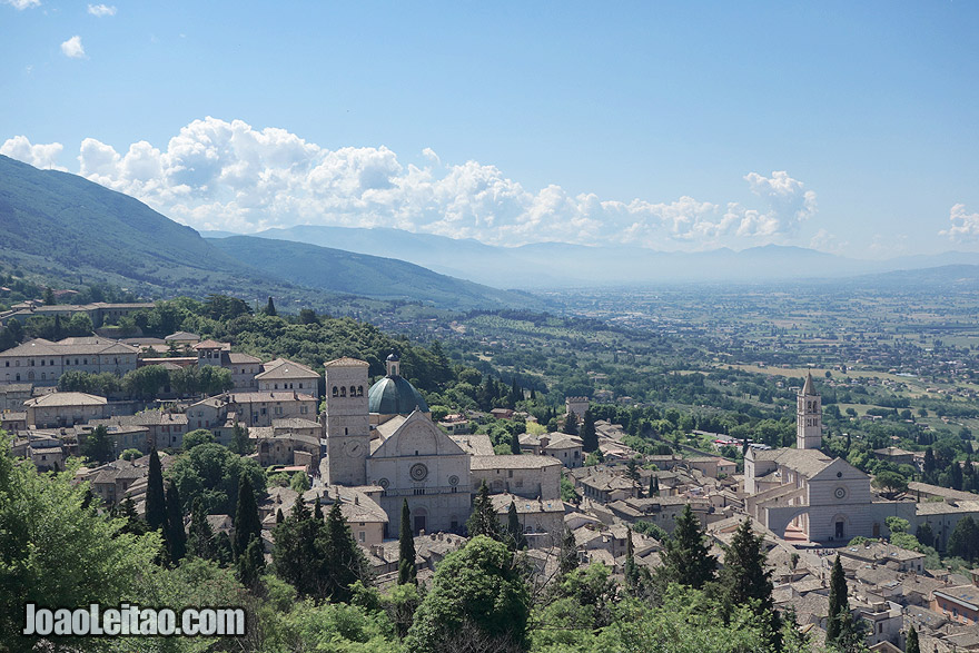 View of Assisi in Italy