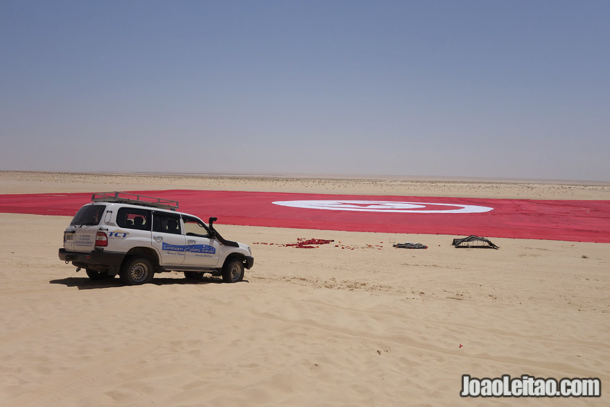 World's largest flag in Tunisia