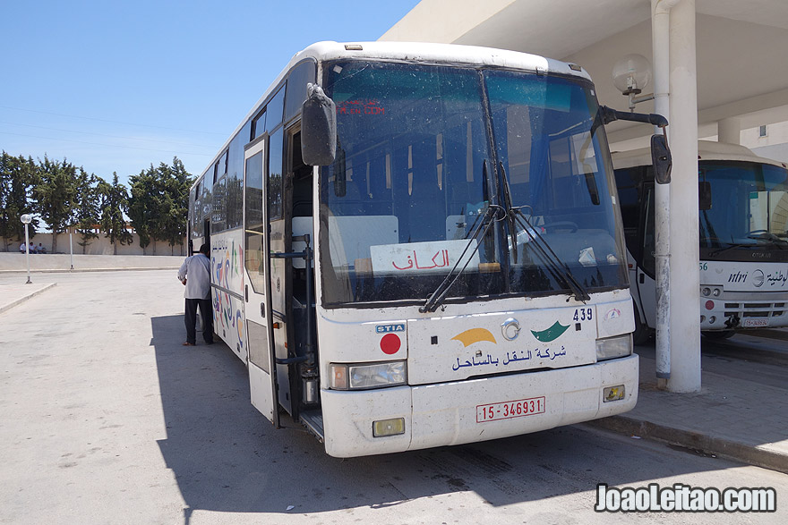 Bus El Kef to Borj Brahim