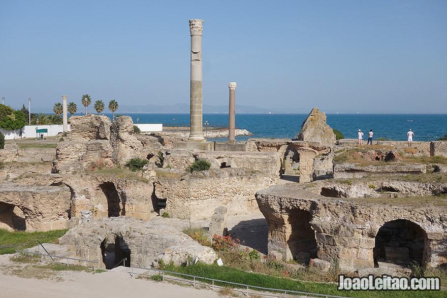 Complexo arqueológico de Cartago, na Tunísia