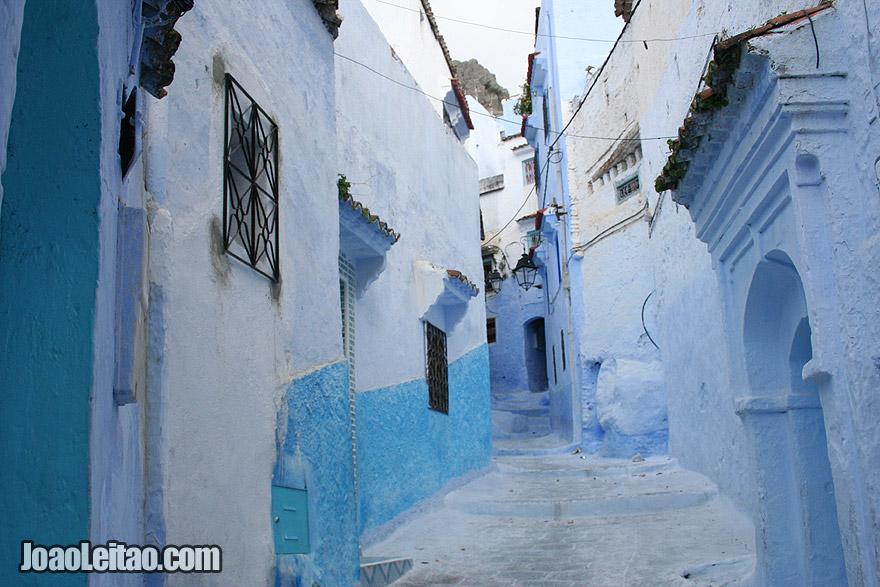 Rua azul em Chefchaouen
