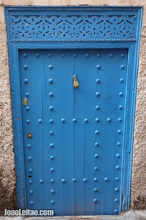 Porta na Medina de Marraquexe