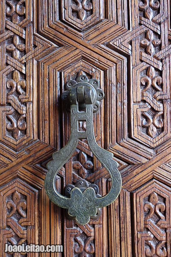 Door knob detail in Marrakesh Medina