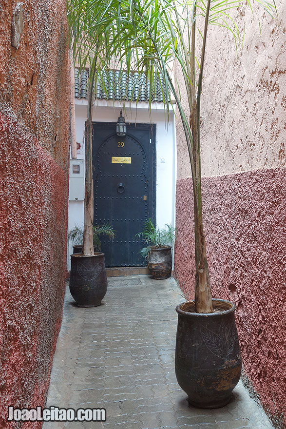 Riad Dar Zaman door in Marrakesh old city