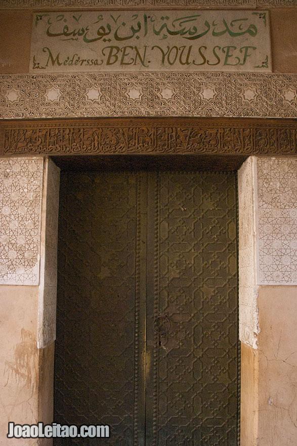 Door in Marrakesh old city