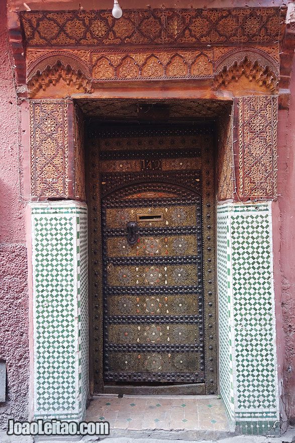 Door in Marrakesh old city