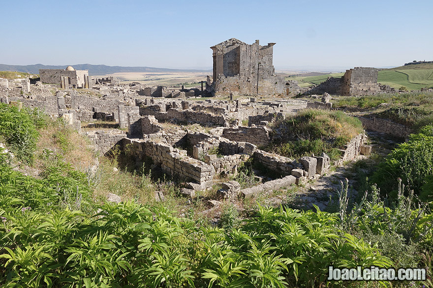 Dougga ancient Roman city in Tunisia