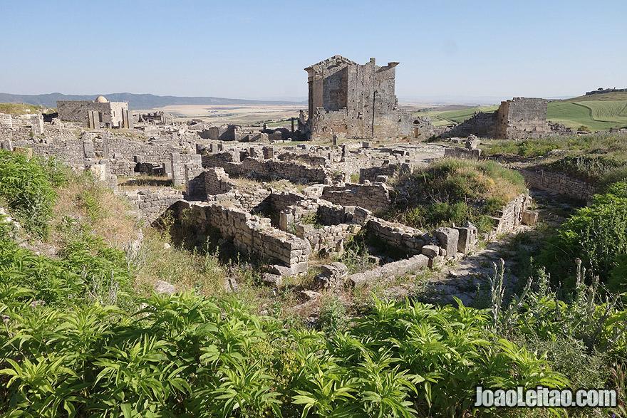 Antiga cidade romana de Dougga, na Tunísia