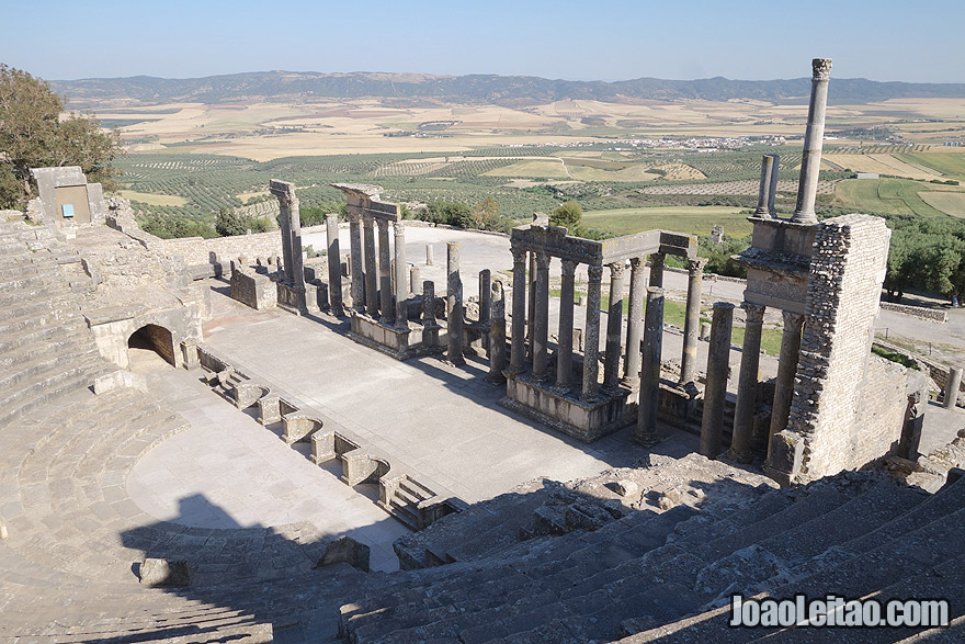 Dougga Auditorium Theater in Tunisia