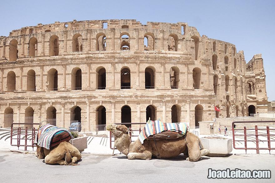 Anfiteatro de El Jem, na Tunísia