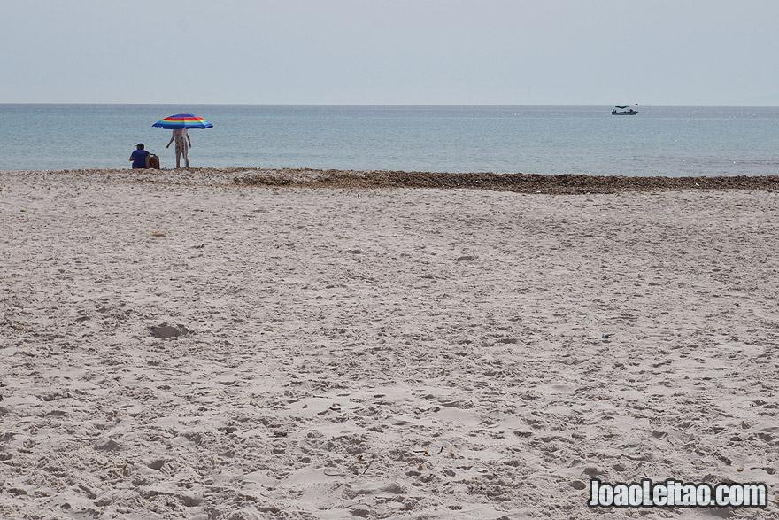 Praia de El-Mansoura, na Tunísia