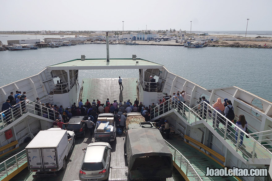 Ferry-boat from Sfax to Kerkannah Island