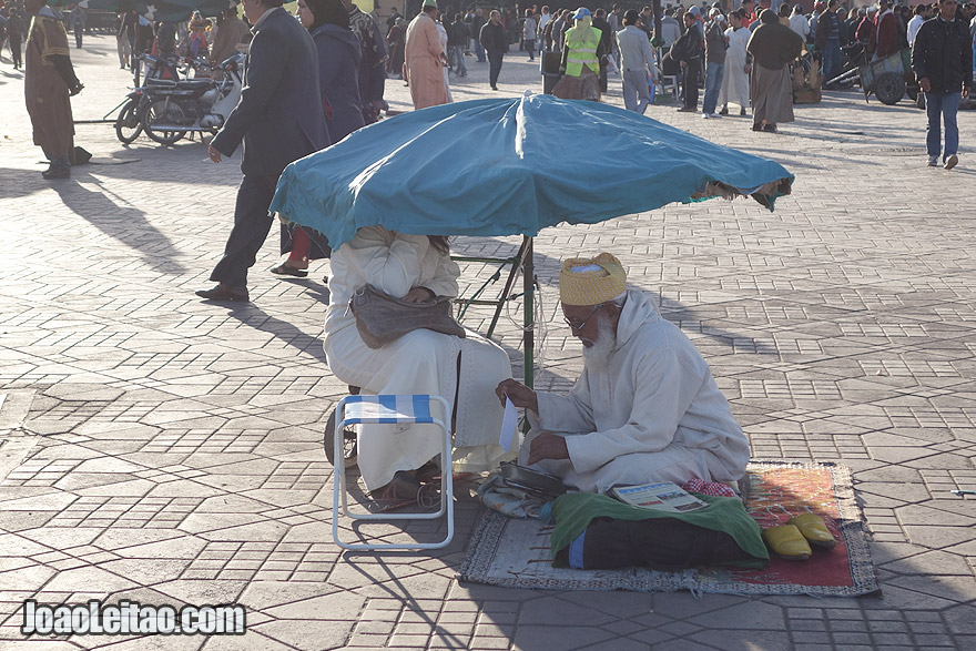 Fortune teller of Marrakesh