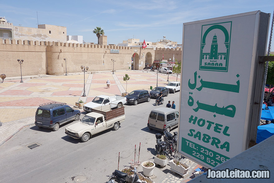 Window view of Hotel Sabra in Kairouan