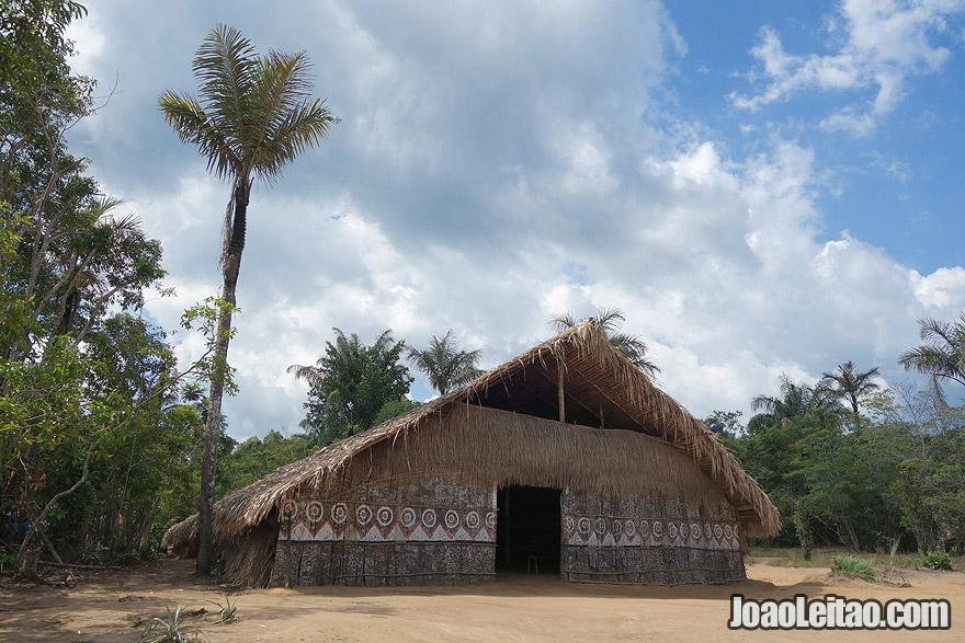 Indigenous camp in Brazil