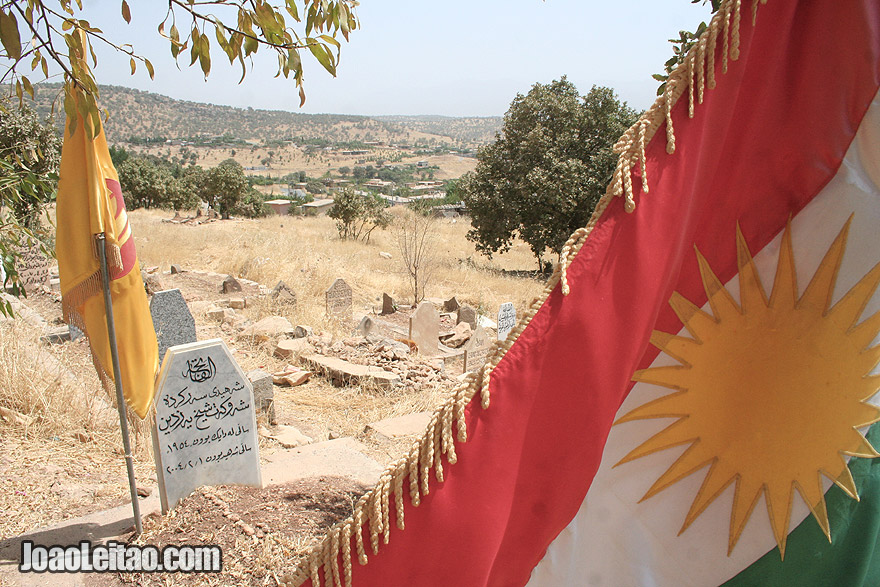 KDP cemetery in Barzan, Iraq