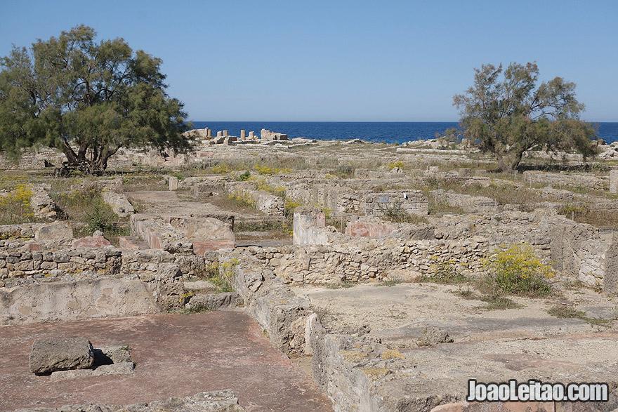 Cidade púnica de Kerkouane e a necrópole, na Tunísia