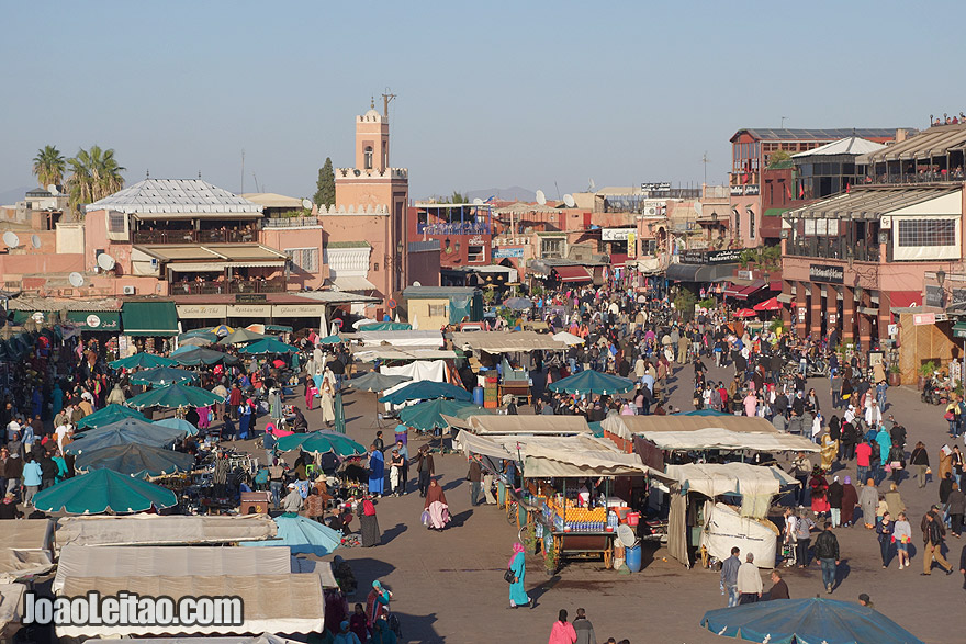 Jemaa el Fna upper view