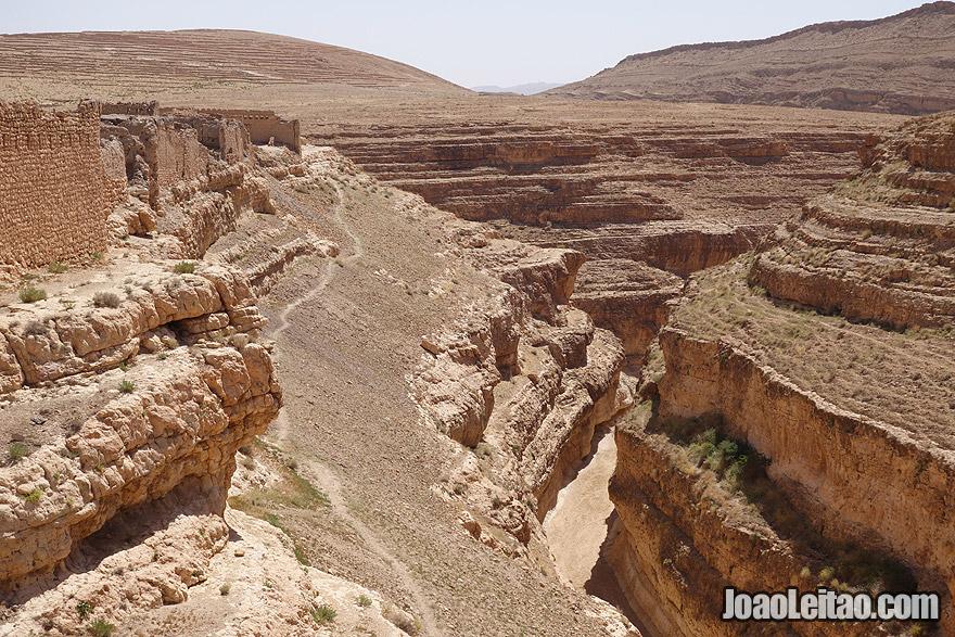 Aldeia abandonada de Midas e desfiladeiros, na Tunísia