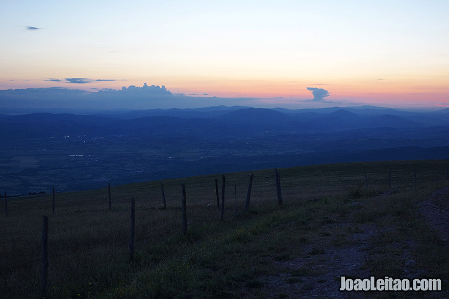 Sunset from the top of Monte Subasio