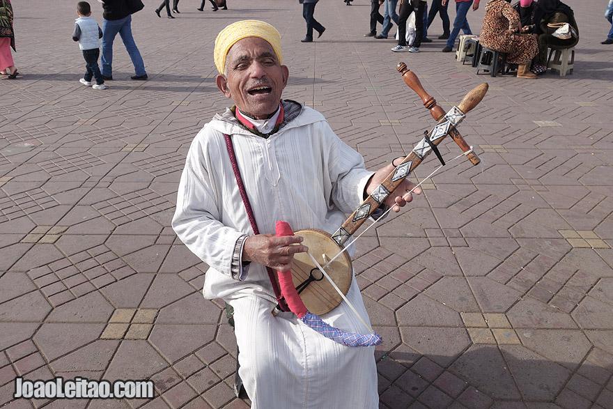 Músico de Marraquexe