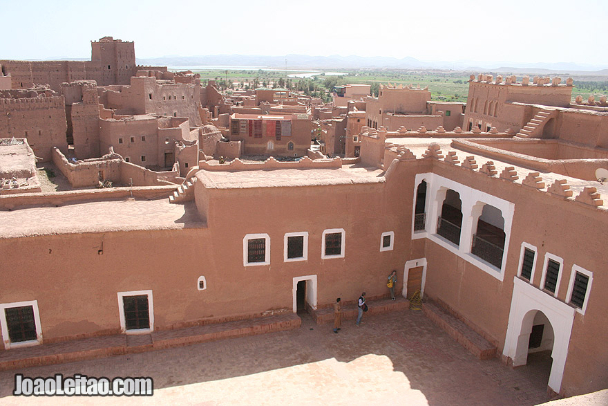 View of Kasbah Taourirt in Ouarzazate