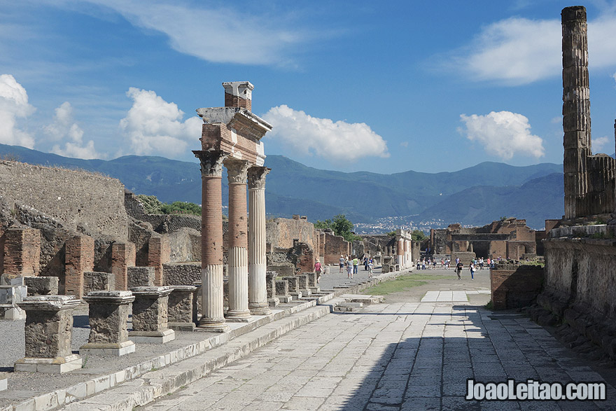 The Temple of Jupiter in Pompeii ancient Roman city