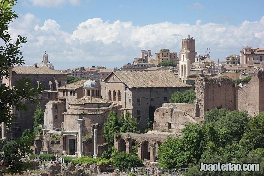 O Forum Romano em Roma